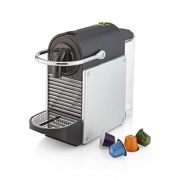 Nespresso By De Longhi Aluminum Pixie Espresso Machine Crate And Barrel Espresso Crate And Barrel Espresso Machine
