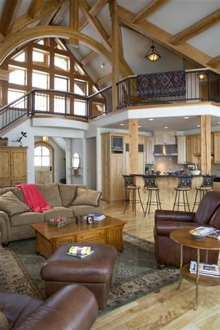 Nearly every feature in this home is cedar wood and it all comes together beautifully.