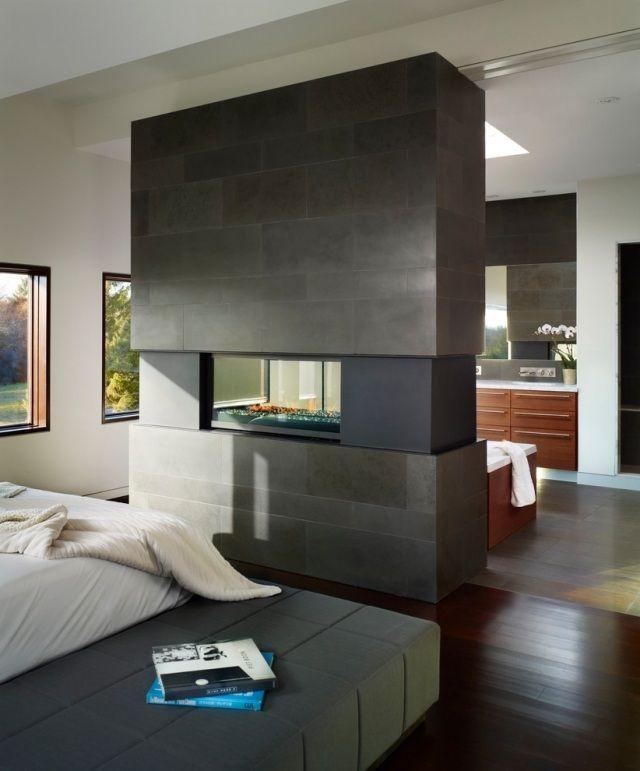 raumteiler schlafzimmer badezimmer kaminofen gas doppelseitig ...
