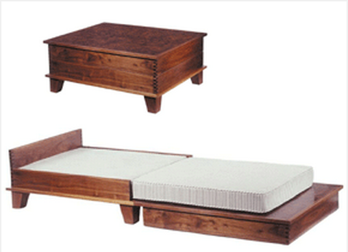 coffee table that transforms into a guest bed... Found on