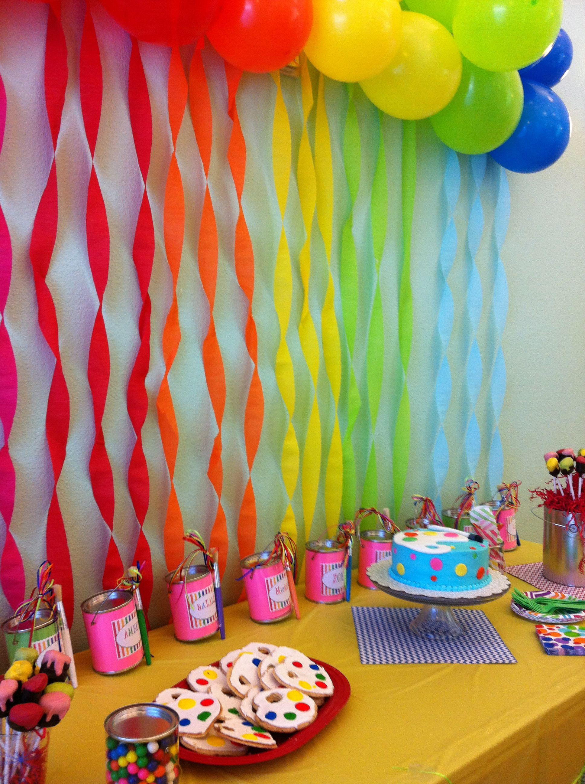 8 Year Old Girl Birthday Art Party Artist Birthday Party
