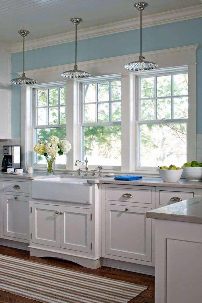 Idee colore pareti cucina - Pareti azzurre | Shabby, Kitchens and ...