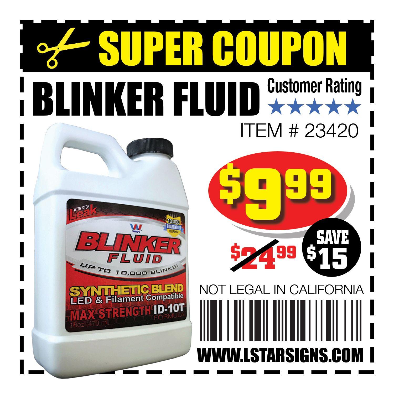 Blinker Fluid super coupon instant savings!  </p>  </div><!-- .entry-content -->     </article><!-- #post-## -->  <nav class=