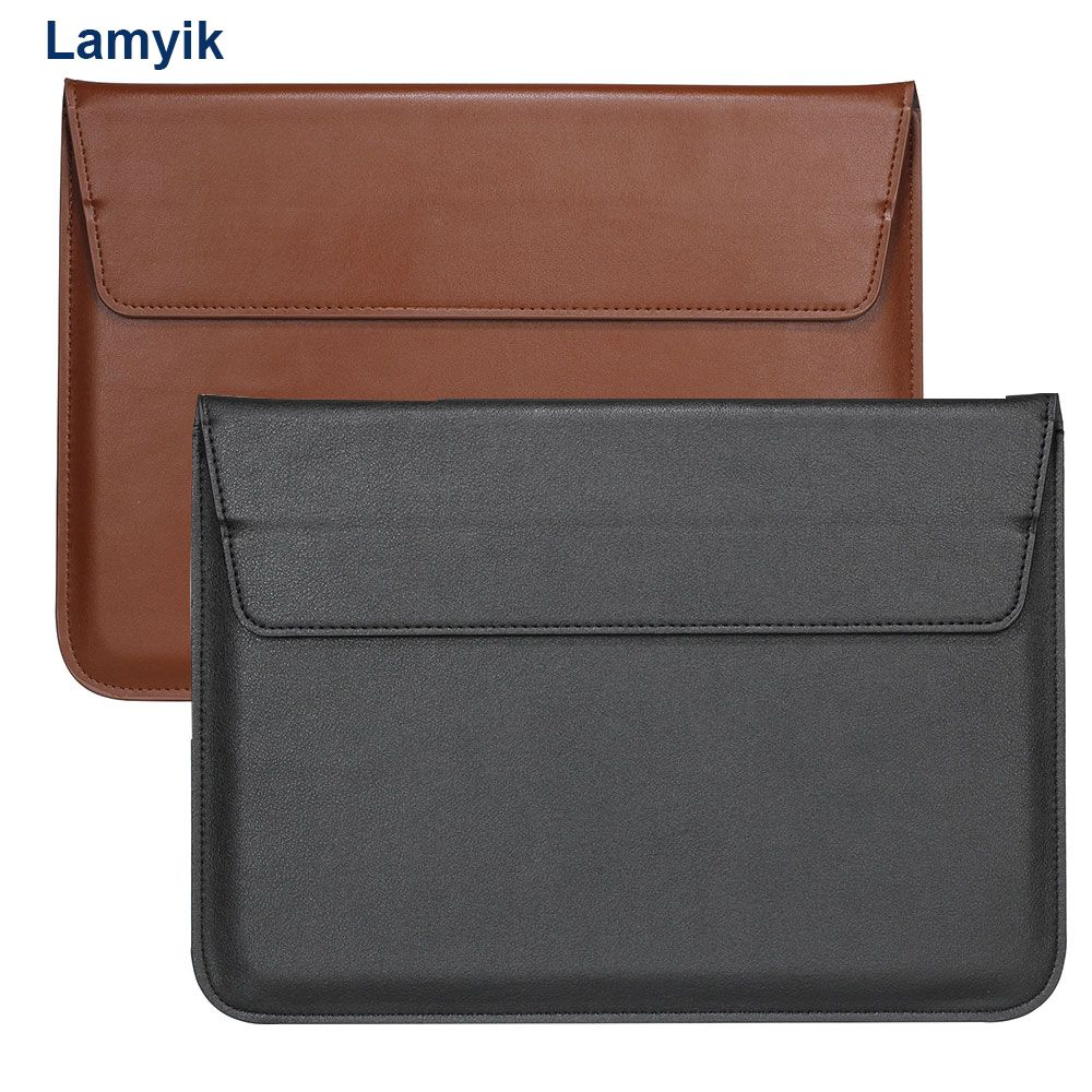 Genuine Leather Laptop Bag For Macbook Air Retina 13 15 inch Sleeve Notebook  With tablet stand Ultrabook Carry Bag Case Pouch