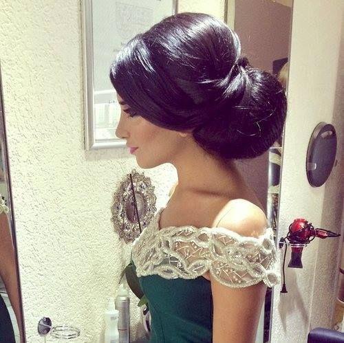 Blouza Oranaise Medium Hair Styles Bridal Hair Updo Wedding Hair And Makeup