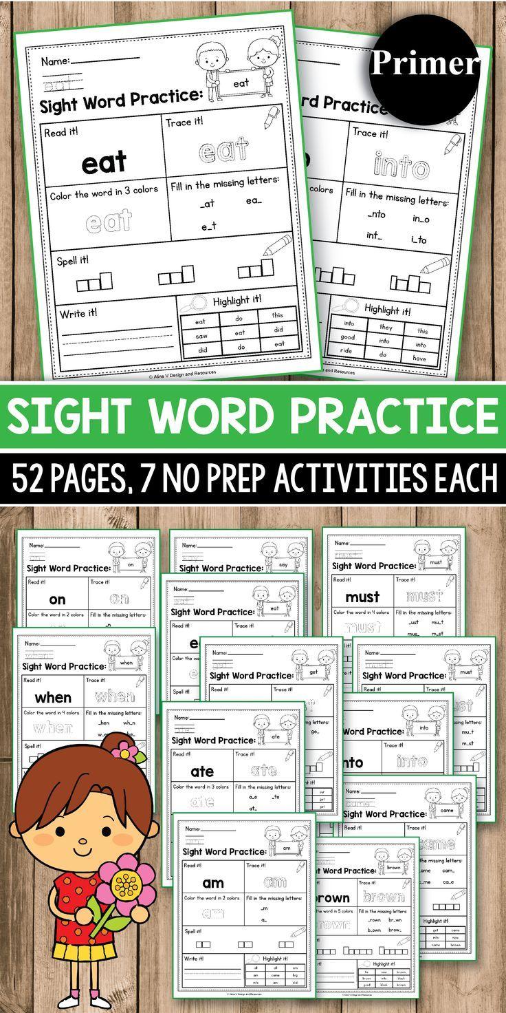 Sight Word Practice for Kindergarten - Sight Word Activities   Sight ...