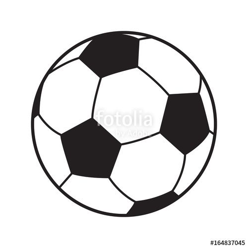 Download The Royalty Free Vector Soccer Ball Icon Isolated Football Games Symbol Soccer Ball Logo For Brochur Trafarety Illyustracii