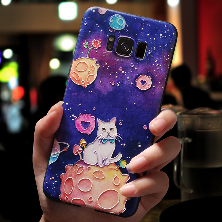 3d Cartoon Emboss Cases For Samsung Galaxy S10 S10e Plus J2 J3 J5 J7 Prime 2017 2016 J4 J6 J8 2018 2015 Neo Note 8 Case Soft Tpu Pattern Phone Case