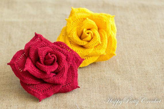 Crochet rose pattern crochet flower pattern crochet pattern crochet rose pattern crochet flower pattern crochet pattern large rose pattern instant download ccuart Images