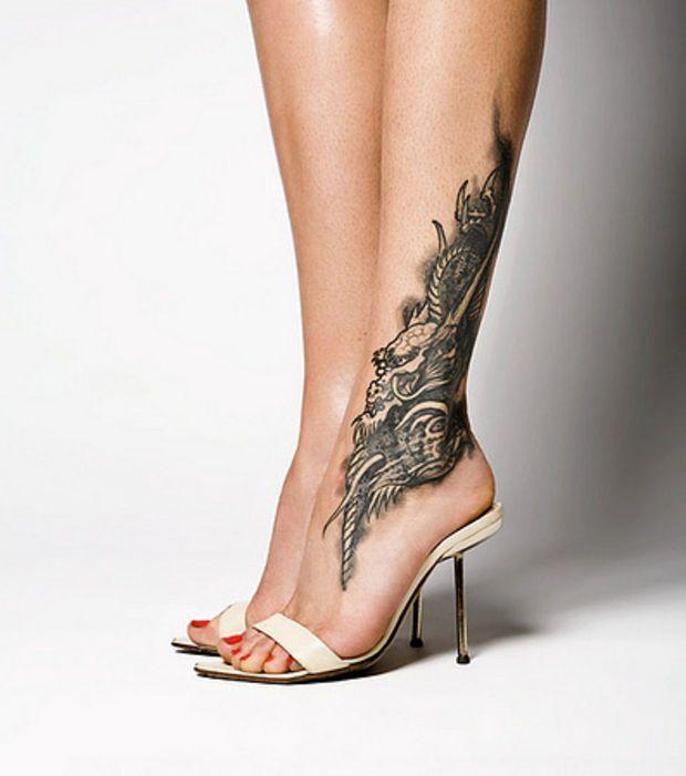 Tatouage Phoenix Cheville Femme Kolorisse Developpement