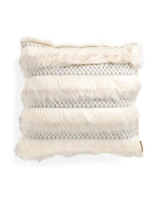 Nicole Miller Faux Fur Feather Fill Throw Pillow Products Adorable Nicole Miller Decorative Pillows