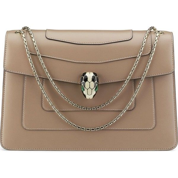 730e9da7ed93 BVLGARI Serpenti Forever calf-leather shoulder bag (1.799.615 CLP) ❤ liked  on Polyvore featuring bags