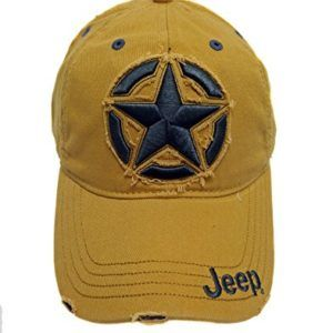 149edc6fd Yellow Jeep Distressed 3D Star Hat Cap | Jeep Clothes | Yellow jeep ...