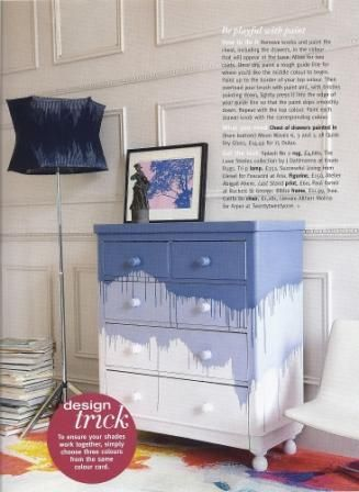 drip painted dresser Down and Out Chic: Interiors: Paint It