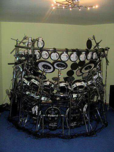 Roland Drum Kit MoreIt Just Kills Me These People Spend Tons Of Money Building Huge Kits That Never See The Light Day