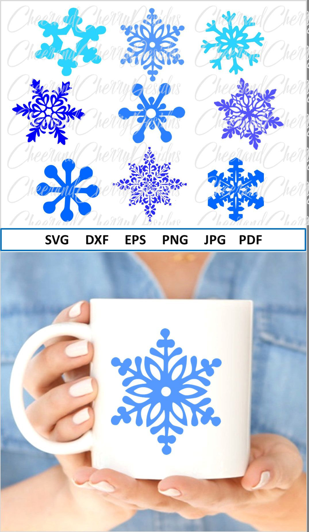 Snowflake Svg for Christmas SVG design Snowflakes Svg file