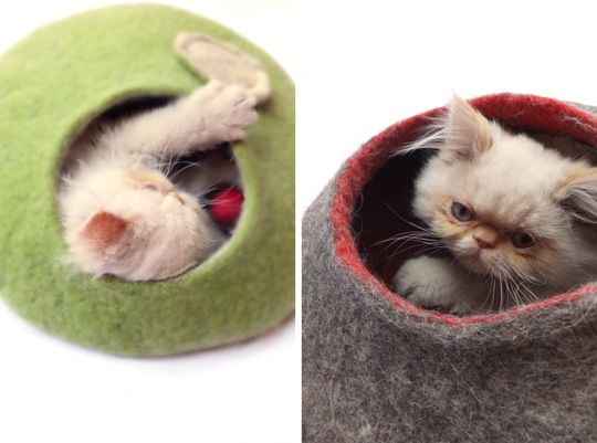 Etsy Felted Cat Caves (avec images) Creations, Feutre