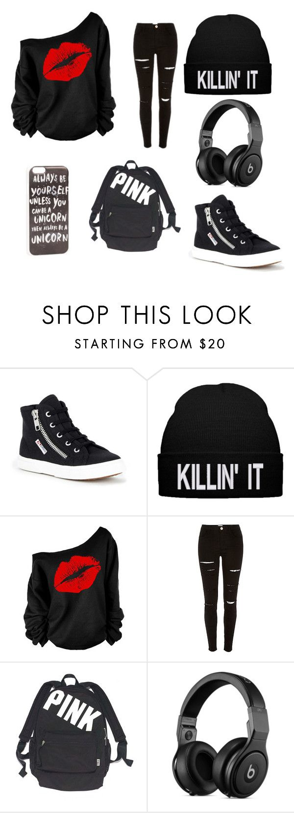 """rebelde"" by evelyn-marcy ❤ liked on Polyvore featuring Superga, Victoria's Secret and JFR"