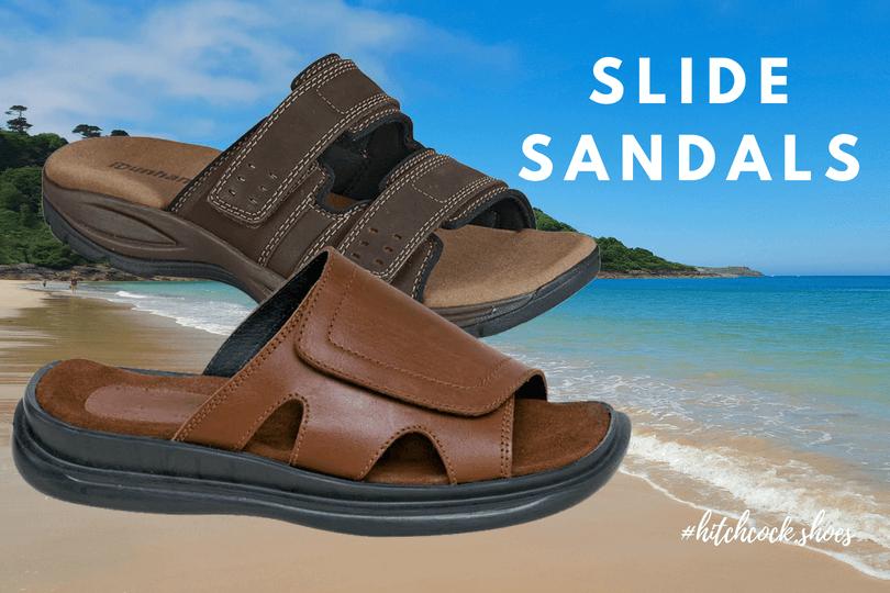 Men S Wide Slide Sandals Hitchcock Shoes Wideshoes Com Since 1951 Wide Width Sandals Sandals Hitchcock Shoes