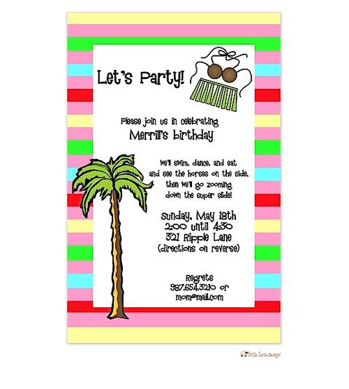 Tropical Unique Party Invitations #luau #partyinvitations