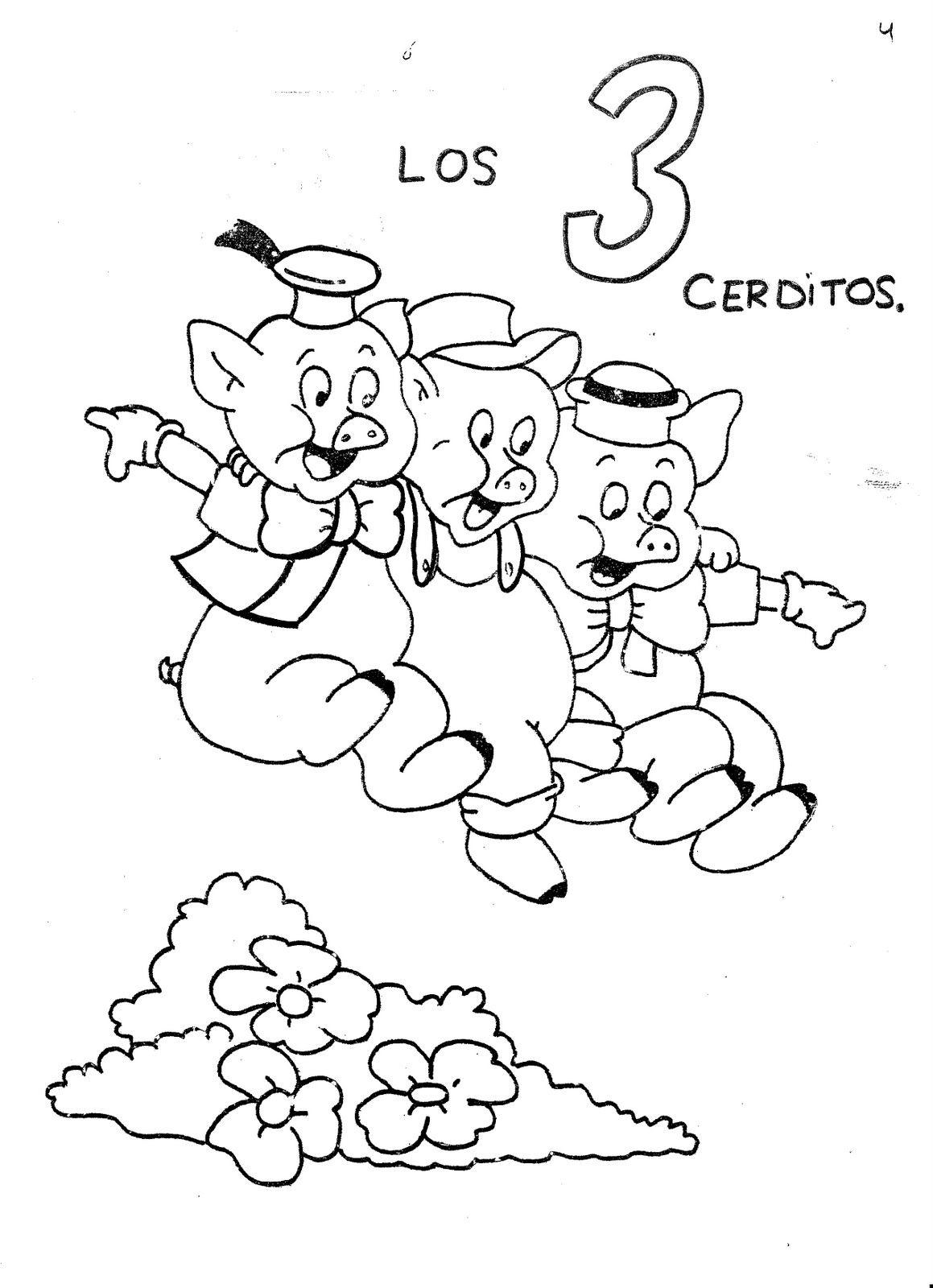 Cuento Los Tres Cerditos Y El Lobo Feroz Con Imagenes Cuento