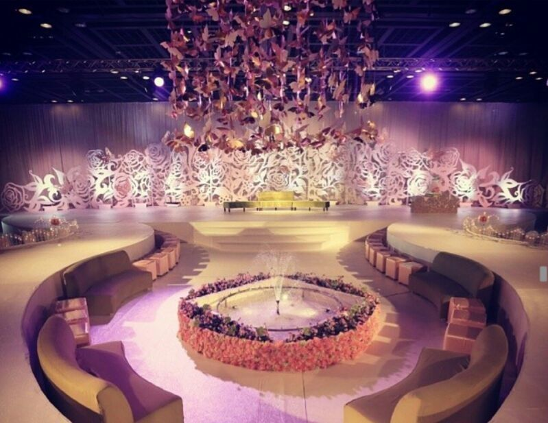 Aghareed kosha design dubai weddings arabic wedding for Arab wedding stage decoration