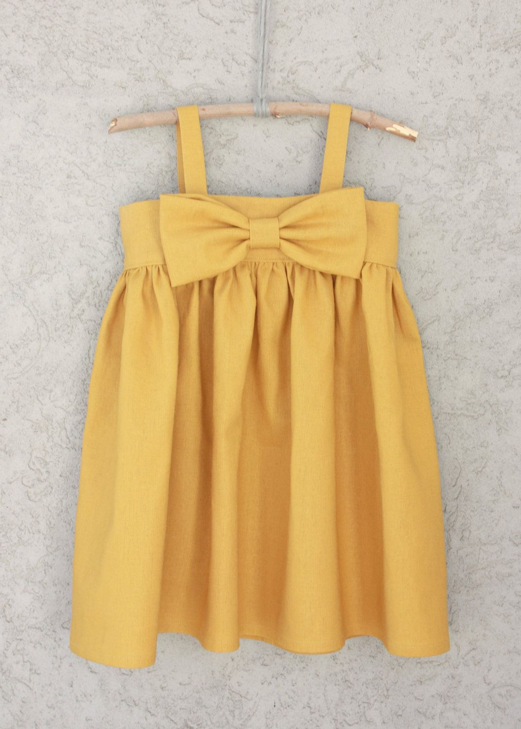 Mustard Yellow Big Bow Dress Baby And Toddler By