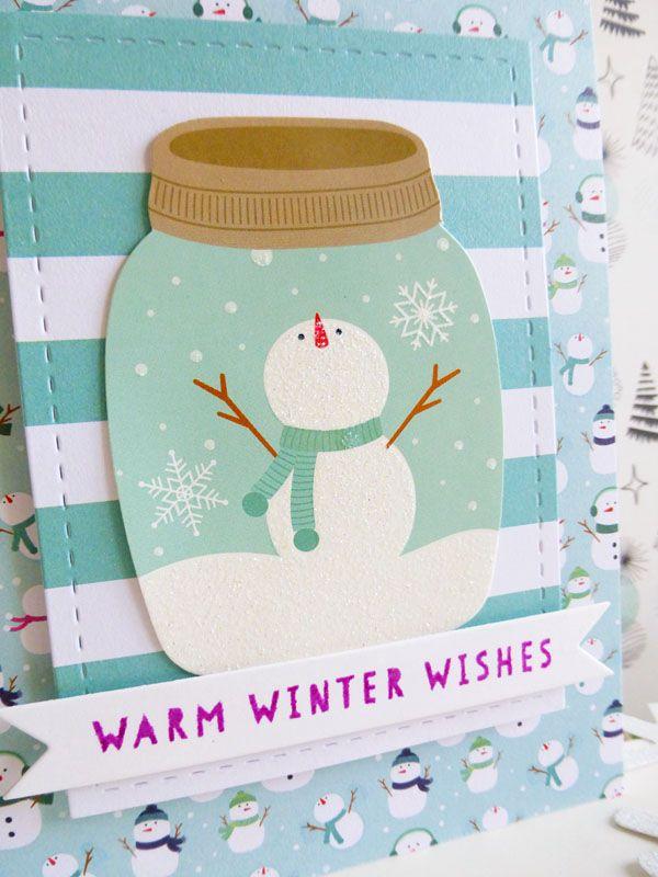 Pebbles - Winter Wonderland - Warm Winter Wishes card - detail