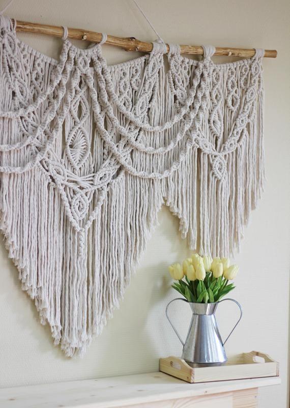 extra large macrame woven wall hanging wall art on macrame wall hanging id=17424