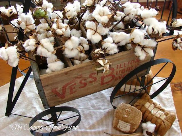Love this Cotton Wagon on the keeping room table!