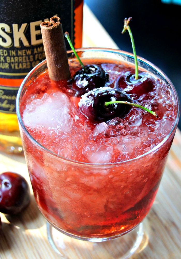 Photo of Whiskey Bourbon Cherry Bomb Cocktail – Totally the Bomb