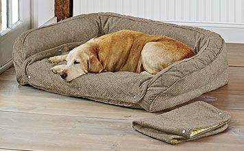 Memory Foam Bolster Dog Bed With Snap Off Pads Bolster Dog Bed Dog Bed Memory Foam