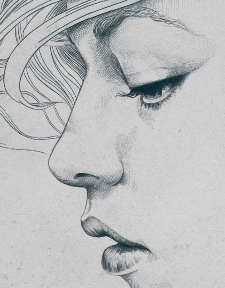 Image Result For Side Face Drawing Line Art Drawings Pencil Portrait Sketches