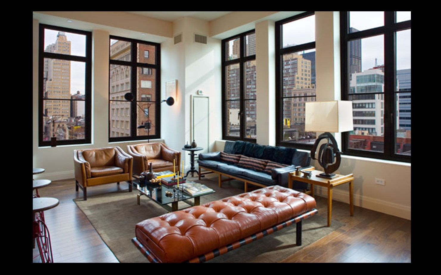 Urban loft style apartment for big family in new york city - Roman And Williams Interior Design Masculine Style Bachelor Pad New York City