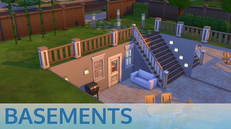 Sims 4 House Building, How To Build Basement Stairs Sims 4