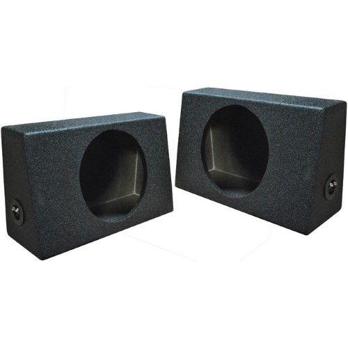 Q-power QTW12 Single 12-Inch Sealed Subwoofer Box Enclosures Pair