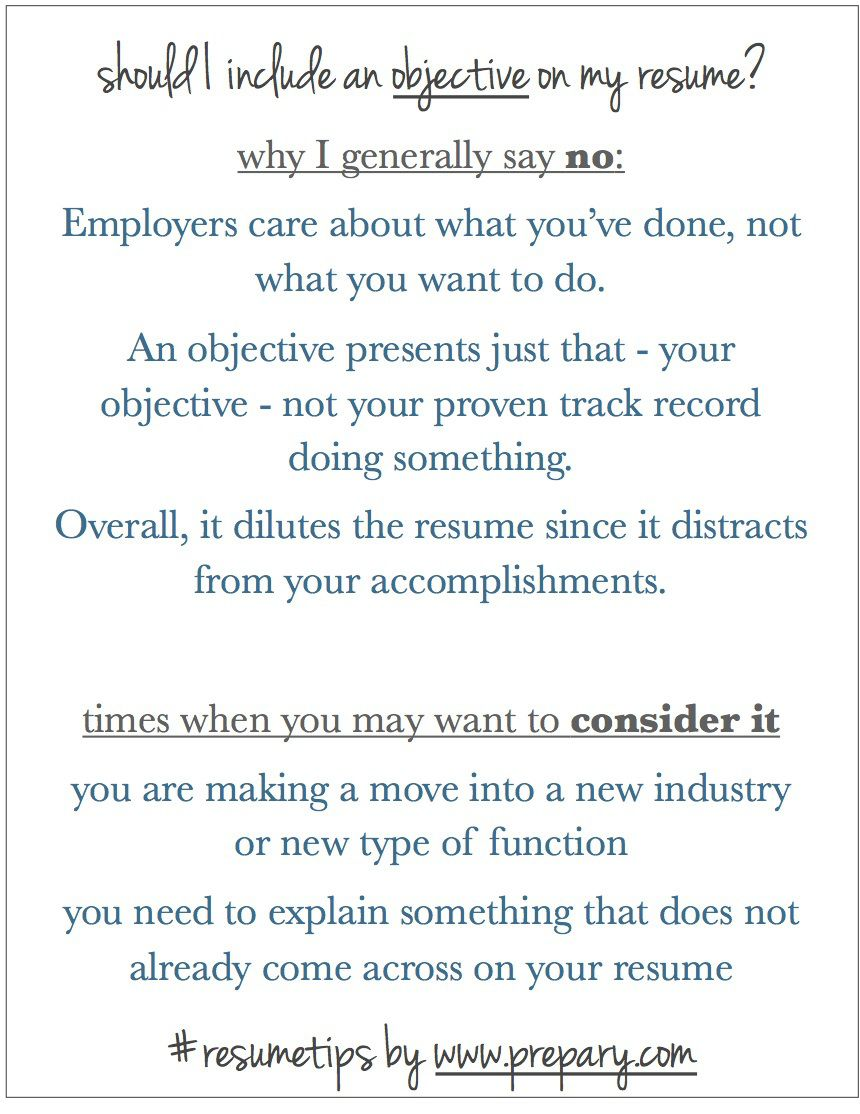 what to say on a resume objective