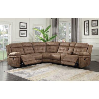 Red Barrel Studio Rancourt Symmetrical Reclining Sectional Reclining Sectional Sectional Sofa With Recliner Sectional Sofa