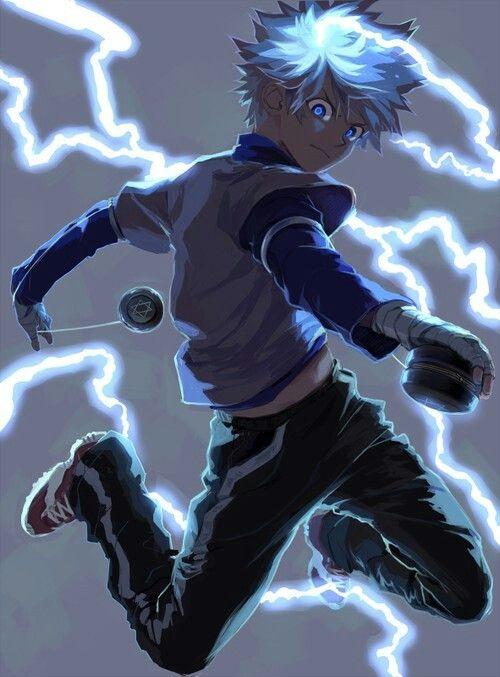 Killua Electric Boy Personagens De Anime Imagem De Anime Tudo