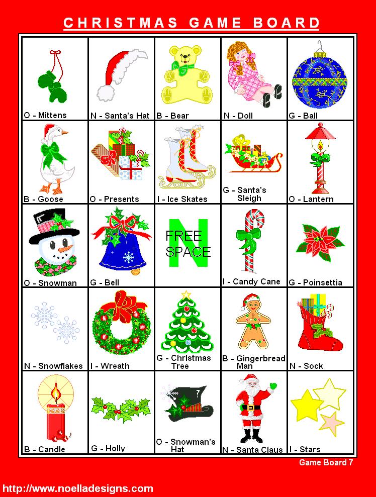 FREE Printable Christmas Bingo Christmas Games at Noella