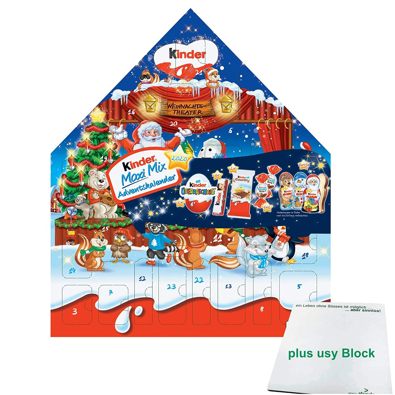 Ferrero Kinder Maxi Mix Adventskalender 2020 Motiv Weihnachtstheater 351g Usy Block Adventkalender Kinder Maxi Mix Adventskalender