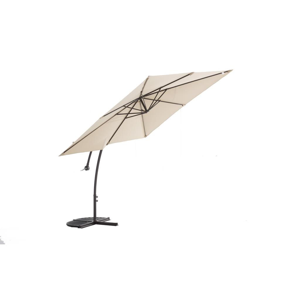 Sunjoy Henry 8 Ft. Aluminum Cantilever Patio Umbrella In Beige 110211006    The Home Depot