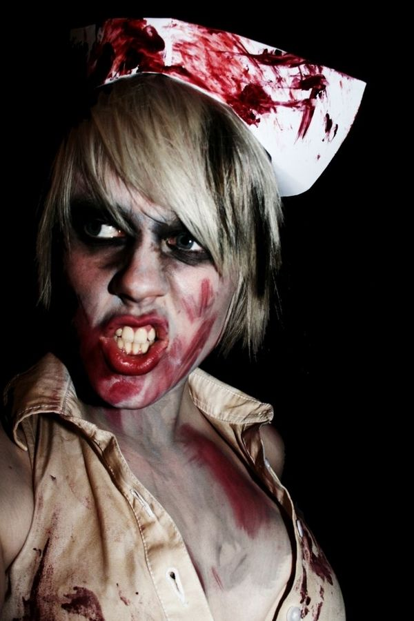 Best scary Halloween makeup ideas horror nurse makeup and costume ...