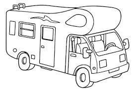 Motorhome Colouring Pages Google Search Camper Tekenen Doodles Belettering