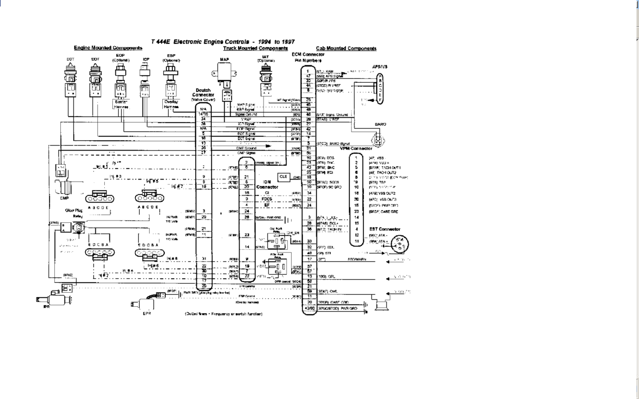ecm international diagrama wiring diagram and schematics rh pinterest com  international dt466e ecm wiring diagram