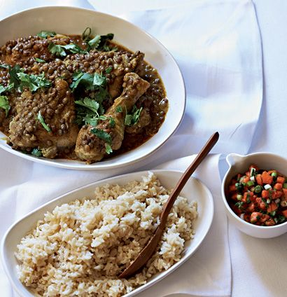 Chicken And Lentil Curry With Papaya Salsa Woolworths Taste Recipe Lentil Curry Jamaican Recipes Foodie Recipes