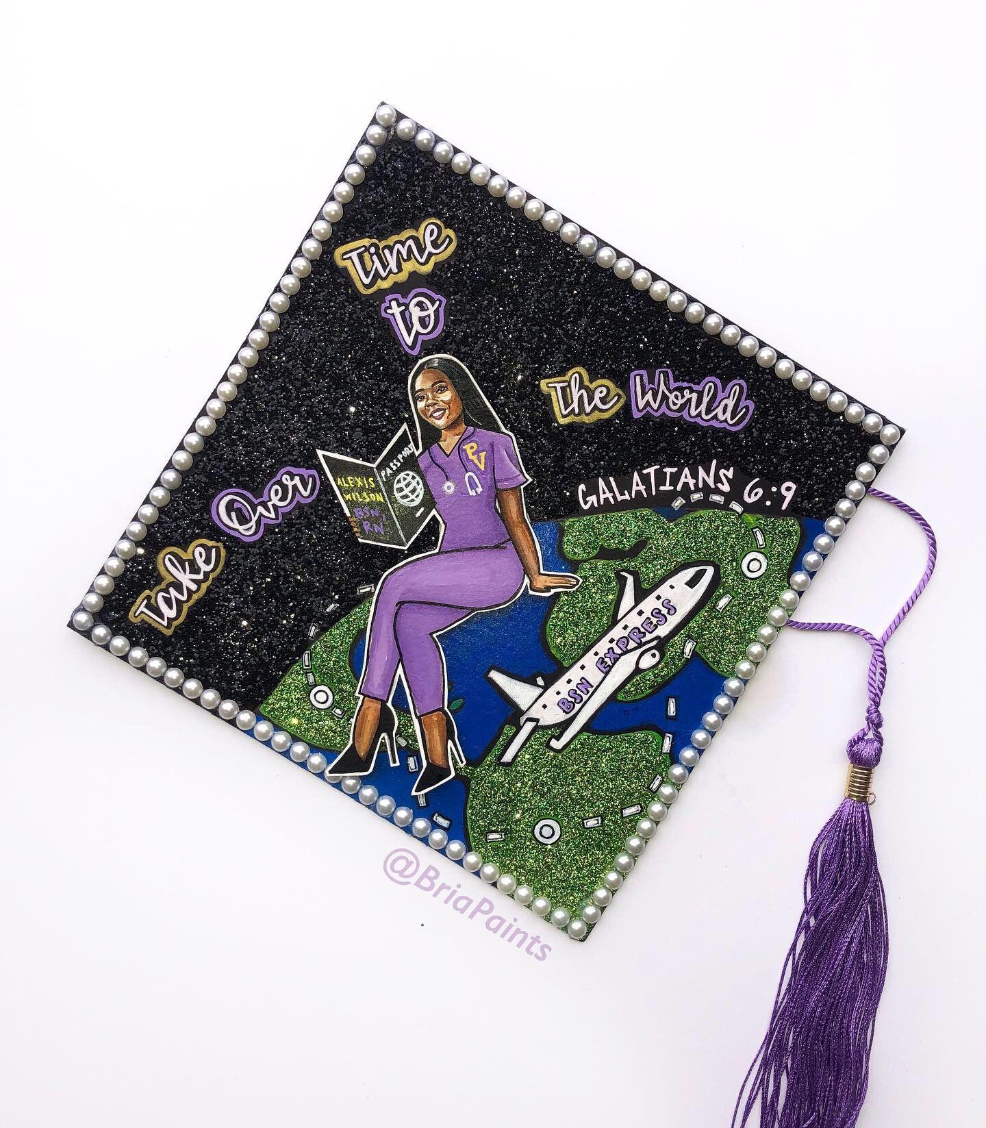 Nursing Grad Cap College Grad Cap Ideas Graduation Cap Designs College Graduation Cap Decoration