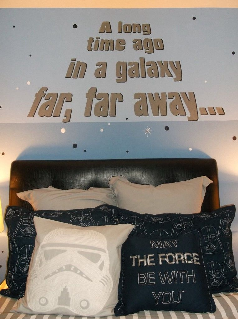Star Wars Boys Room   Awesome Mural And Great Decor Ideas!