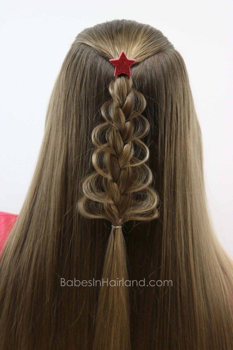 Christmas Tree Loop Braid From Babesinhairland Com Christmas Hair Braid Christmas Tree Hairstyle Hair Styles Long Hair Styles Cool Braid Hairstyles