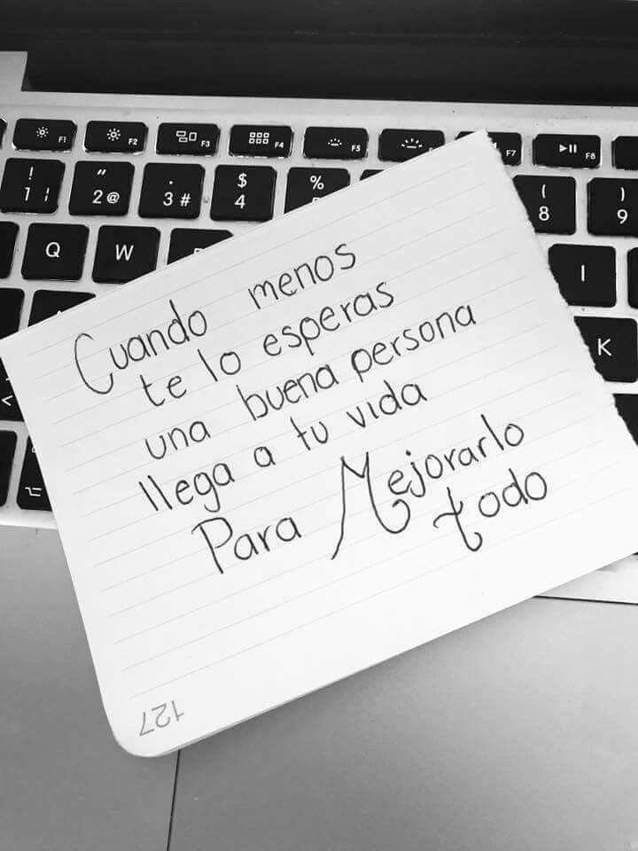 Cuando menos me lo esperaba llegaste tú mi amor. ❤ | café y letras ...